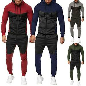 2PCS-Men-Tracksuit-Jacket-Pant-Casual-Sport-Jogging-Athletic-Trainer-Suit-Outfit
