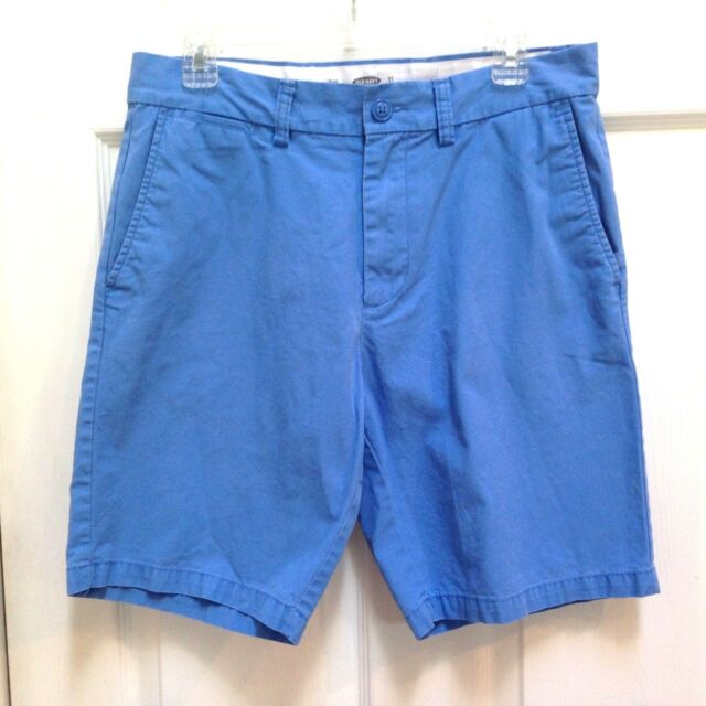 Old Navy Blue Cotton Shorts Men's size 31 Slim Flat Front