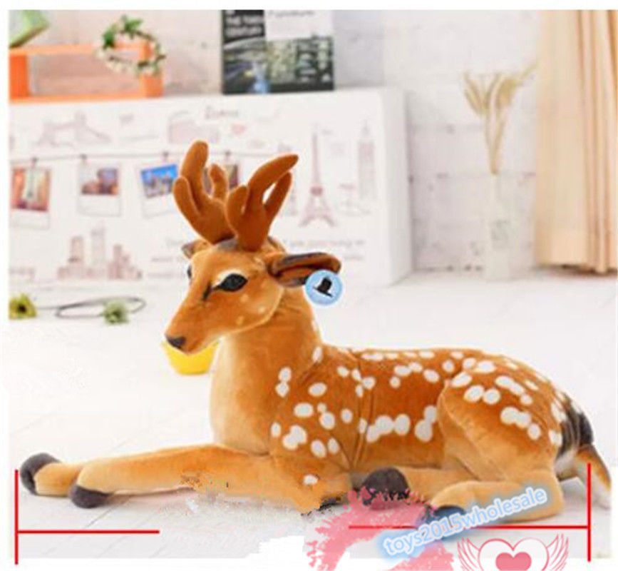 Giant Big Cuddly Deer Plush Soft Toy Reindeer Animal no Sound XMAS GIFT ANimal q