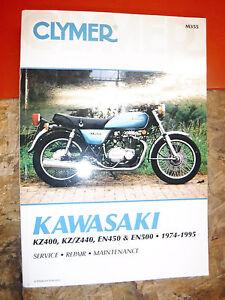 1974-95 KAWASAKI KZ400 KZ/Z440 EN450 EN500 CLYMER SERVICE MANUAL REPAIR 78 84 92