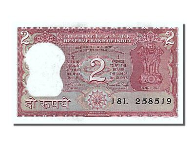 65-70 2 Rupees India Unc #253792 J8l2585j9 Beneficial To The Sperm Km #53a