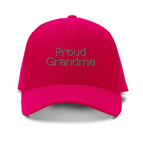 Proud Grandma Embroidery Embroidered Adjustable Hat Baseball Cap