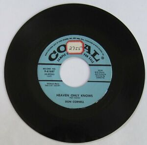 Don-Cornell-DJ-promo-45-034-Heaven-Only-Knows-034-034-Life-Is-A-Song-034-VG