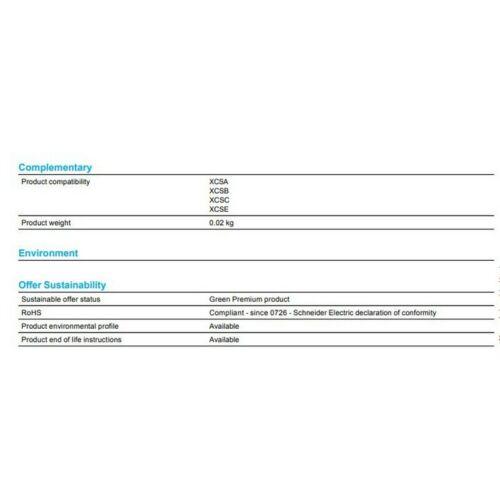 Telemecanique XCS Z02 Actuador con amplio de fijación para Interruptor de metal 001391