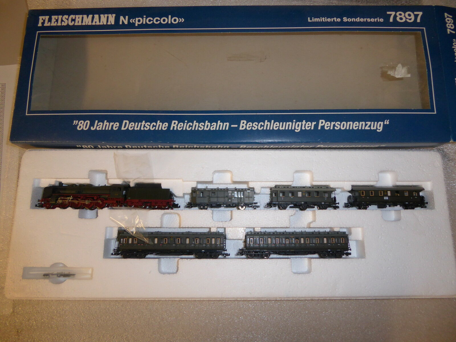 Fleischmann 7897 Train Set  80 years Dr  the DR, limited Absolutely Mint