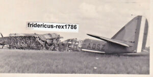 Foto-Panzergrenadier-Rgt-3-mot-D-1940-Flugzeug-Plane-crash-Bomber-Kennung-ADSZ
