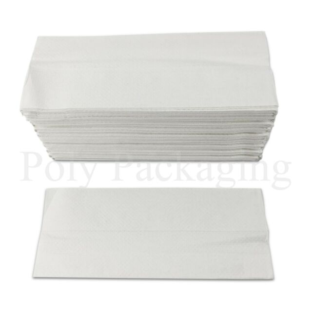 5 X 2400 x WHITE 2 PLY C-FOLD PAPER HAND TOWELS MULTI FOLD