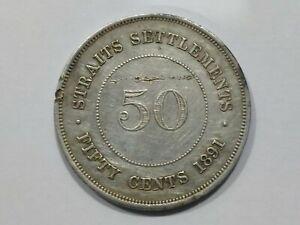 50-Cent-Straits-Settlements-Queen-Victoria-1891