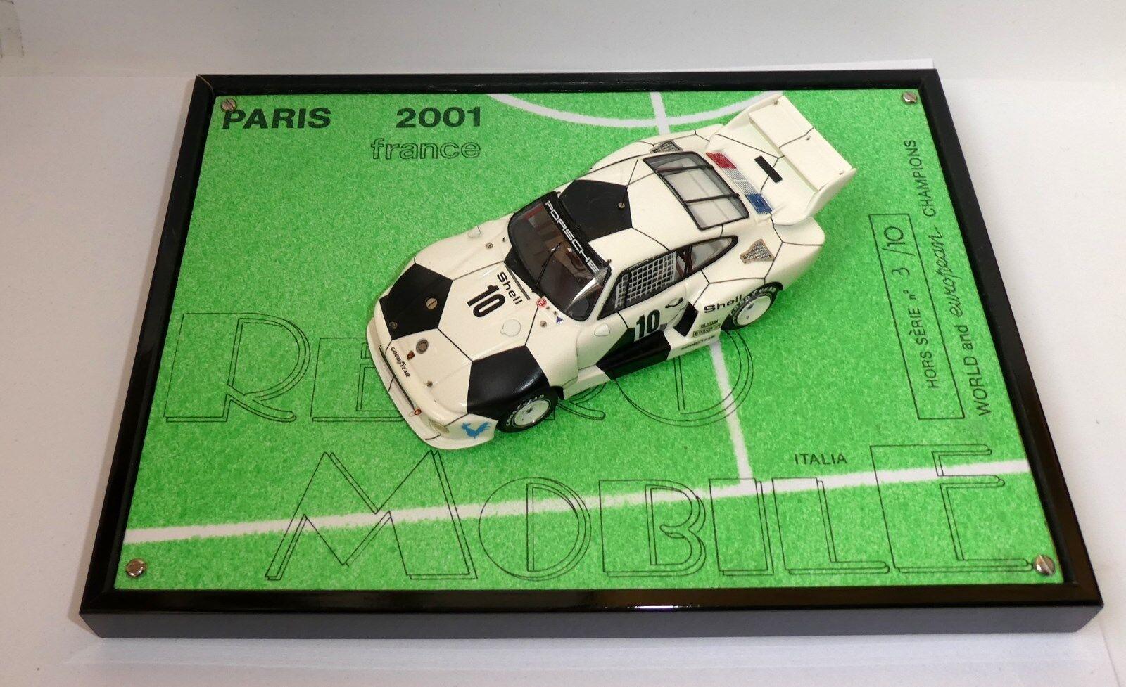 ULTRARARE PORSCHE 935 Fußball-Weltmeister Retromobile 2001 ROBUSTELLI 1:43 03/10
