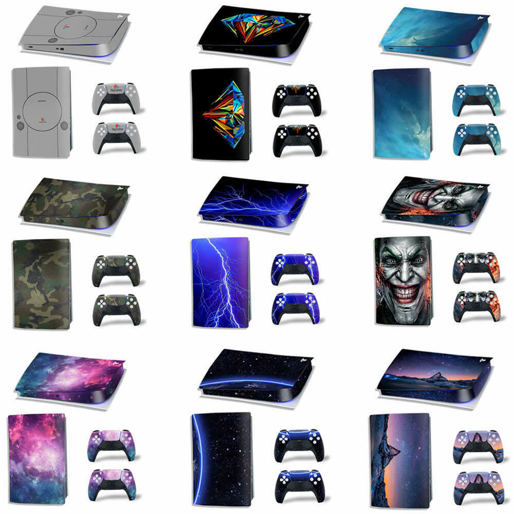 Vinyl skins Wraps Sticker Decal for PLAYSTATION 5 PS5 Console & 2 PADS (Digital)