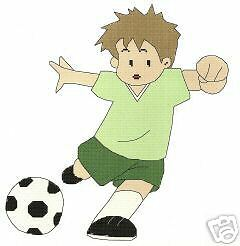 SOCCER PLAYER CROSS STITCH PATTERN counted