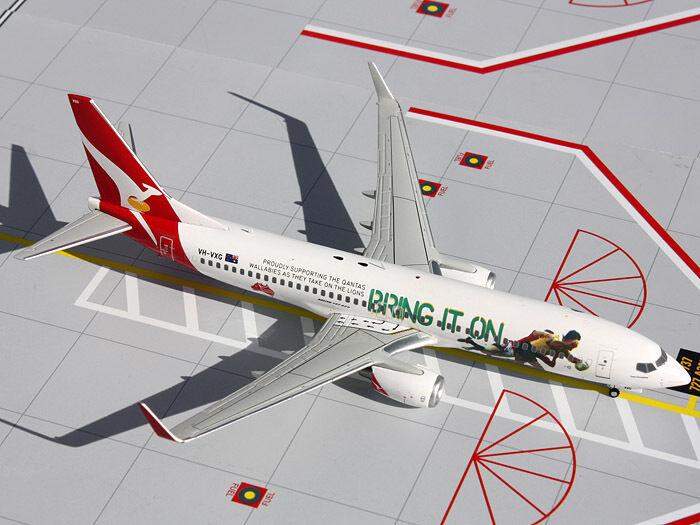 Gemini200 G2QFA439 Qantas Boeing 737-800 Bring It On On On REG VH-VXG 1:200 Scale Nuovo a912aa