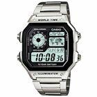 Casio AE-1200WHD-1A Men Digital Dial Wristwatch - Silver