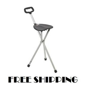 Brilliant Details About Walking Cane Seat Folding Stick Chair Medical Portable Tri Pod Stool Lightweight Pabps2019 Chair Design Images Pabps2019Com