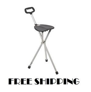 Surprising Details About Walking Cane Seat Folding Stick Chair Medical Portable Tri Pod Stool Lightweight Creativecarmelina Interior Chair Design Creativecarmelinacom