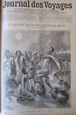 JOURNAL DES VOYAGES N° 876 de 1894 AFRIQUE MISSION MIZON PRIERE MUSULMAN TEKBIR