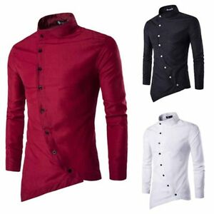 Mens-Top-Stylish-Dress-Shirt-Fashion-Casual-Long-Sleeve-Luxury-Shirts-Slim-Fit