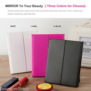 adjustable led tri fold lighted travel make up cosmetic vanity beauty mirror ebay. Black Bedroom Furniture Sets. Home Design Ideas