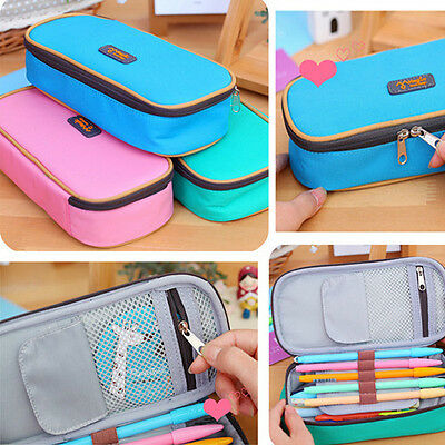 Cute Student Women Pen Bag Pencil Case Travel Cosmetic Makeup Bags Pouch Box New