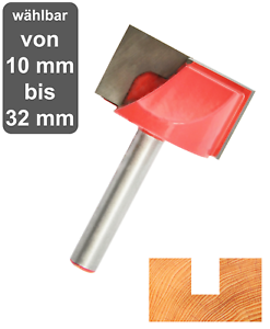 Nutfräser HM (HW) für Holz und Kunststoff 6mm Schaft Nutenfräser Grundschneidend