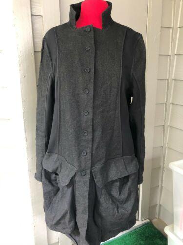 Lagenlook Wearable Art Long Jacket  Cardigan Made