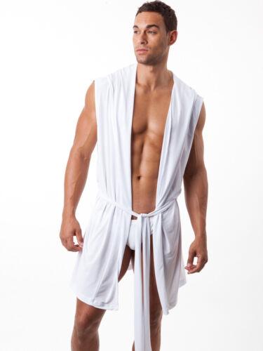N2N Bodywear Rêve Robe Men/'s Sleepwear White