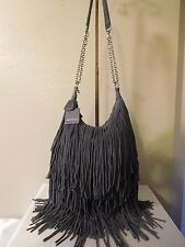 New Monserat De Lucca Leather Bochoa Fringe Hobo Shoulder, Crossbody, Handbag