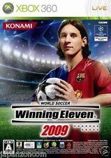 Used Xbox  360 Winning Eleven 2009 MICROSOFT JAPAN JP JAPANESE JAPONAIS IMPORT