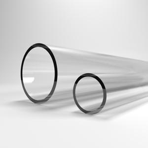 1m 1000mm VERRE ACRYLIQUE TUYAU tube transparent rigide 0,5m 500mm