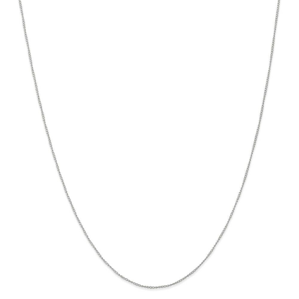 14kt White gold Carded Curb Chain; 16 inch