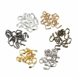 100PCS DIY Accessories Clasps Connector Jewelry Making Metal U Shape Handmade