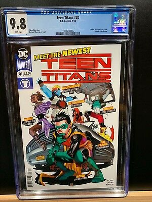 Teen Titans #20 Variant 1:25 CGC 9.8 1st Crush Gorgeous New Case