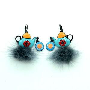 Boucles d/'oreilles LOL Bijoux LOLILOTA Colombe et éventail BFLOL099-Bleu