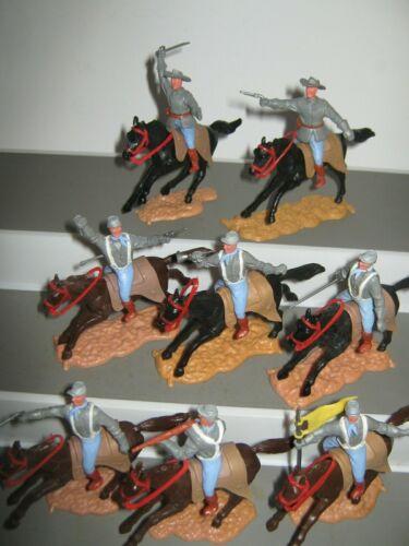 Timpo Confederados 2nd Series montada em conjunto de 8 em todos os 8 Poses V//G a Exc
