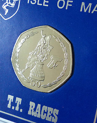 2007 Isle of Man TT Tourist Trophy Motorcycle Race 50p Coin (BU) in Gift Case