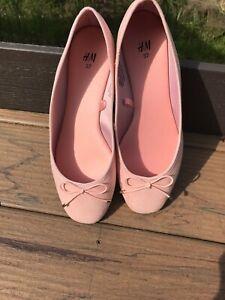 6 Ballet Flats Suede Color Pink