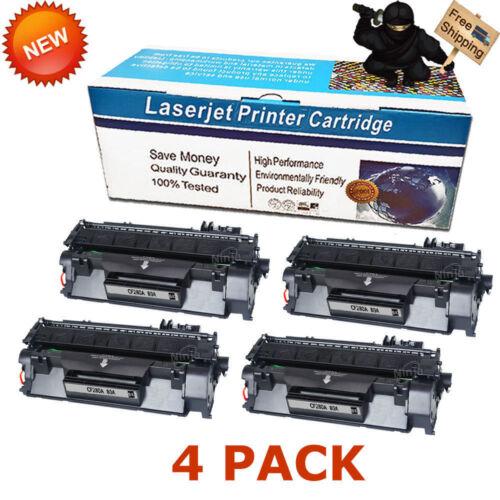 4PK CF280A 80A Black Toner Cartridge For HP LaserJet Pro 400 M401n M401dn M425dn