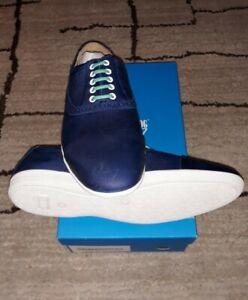 John-Fluevog-Mens-12-Blue-Leather-Casual-NEW