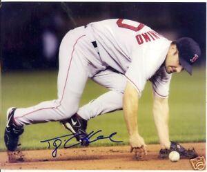 TONY GRAFFANINO BOSTON RED SOX SIGNED 8X10 PHOTO W/COA