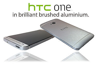 Brushed Metal Skin For HTC ONE M7 cover decal sticker protector accessory case