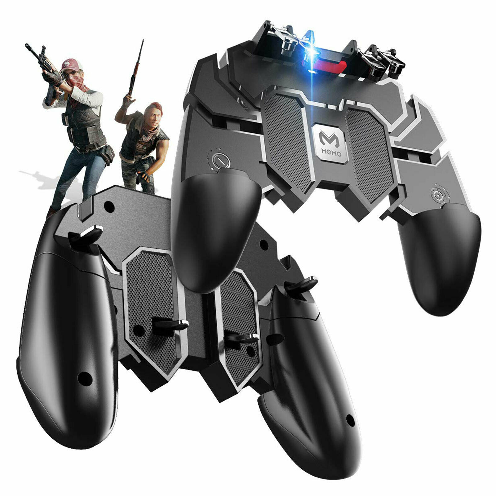 s l1600 - 6 Finger All-in-One Game Controller Aim Shooting Key Button for PUBG IOS Android