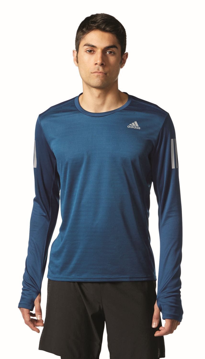 Adidas Performance Men's Long Sleeve Running Shirt Response T-Shirt Construction