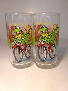 Vintage 1981 McDonalds The Great Muppet Caper Glasses Jim Henson Kermit The Frog