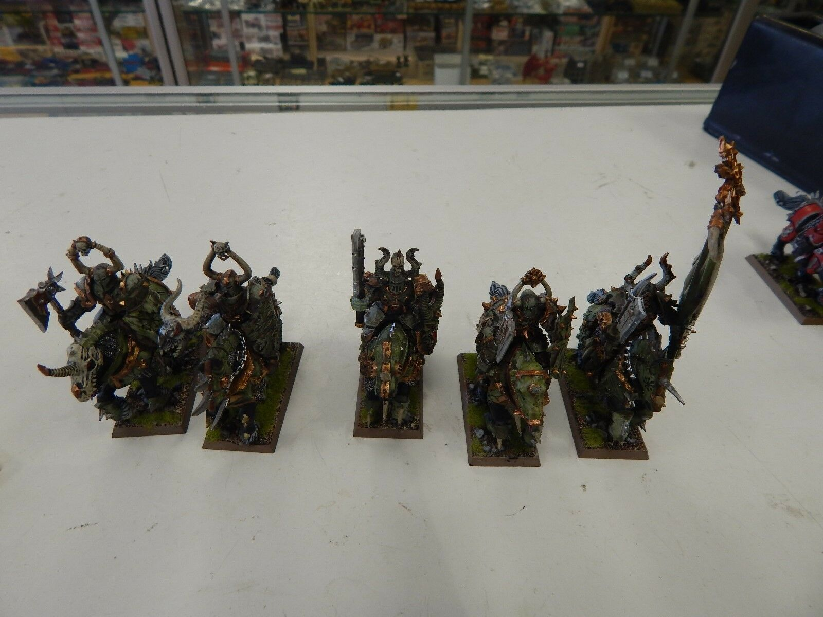 Games Workshop Fantasy Chaos Knights mounted figures x 5