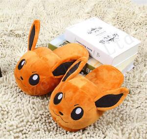 Pocket-Monster-Pokemon-Pantoufles-courtes-en-coton-moelleux