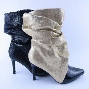 stivali-stivaletti-donna-oro-dorati-pitone-pitonati-tacco-spillo-9-cm-punta