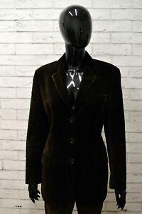 Giacca-Donna-AMERIGO-VESPUCCI-Taglia-L-Cappotto-Blazer-Cotone-Velluto-Jacket