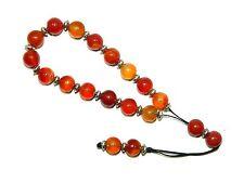 B-0032 - Loose String Greek Komboloi Prayer Beads 10mm Natural Agate Gemstone