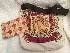 Beauty & The Beast La Belle et La Bete Crest Tote Zip Pouch Cream Disney