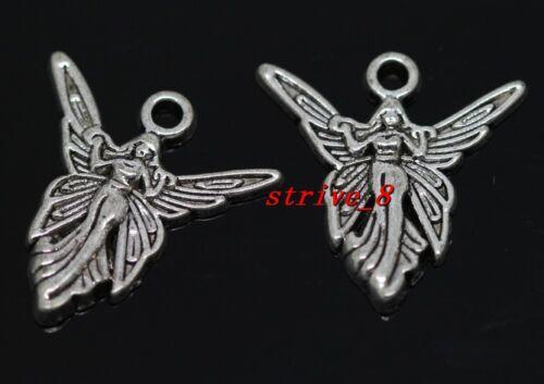 Lot 40//240pcs Tibetan Silver beautiful angel Charms Pendant Crafts DIY 20x19.5mm
